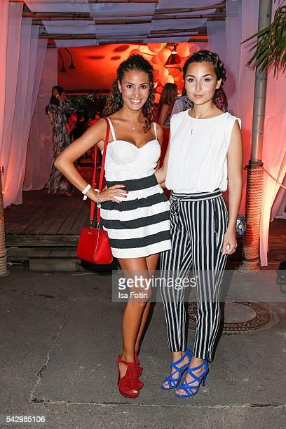 German actress Nadine Menz and german actress Rona Oezkan attend the Raffaello Summer Day 2016 to celebrate the 26th anniversary of Raffaello on June...