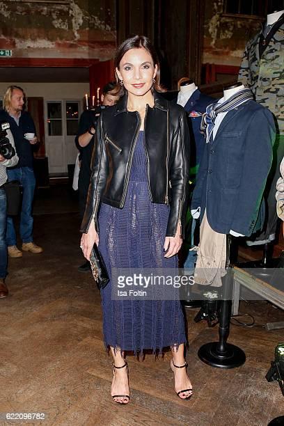 German actress Nadine Warmuth attends the La Martina x GQ PreDinner on November 9 2016 in Berlin Germany