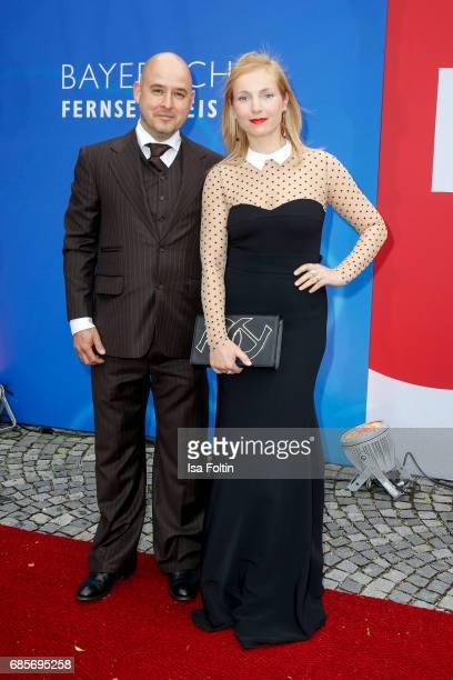 German actress Nadja Uhl and her husband Kay Bockhold attends the Bayerischer Fernsehpreis 2017 at Prinzregententheater on May 19 2017 in Munich...
