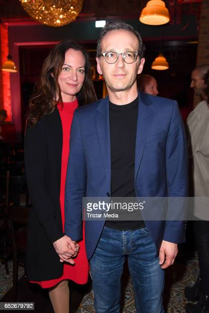 German actress Natalia Woerner and her boyfriend german federal minister of justice Heiko Maas attend the Private Soul Foods Presents Max Mutzke at...