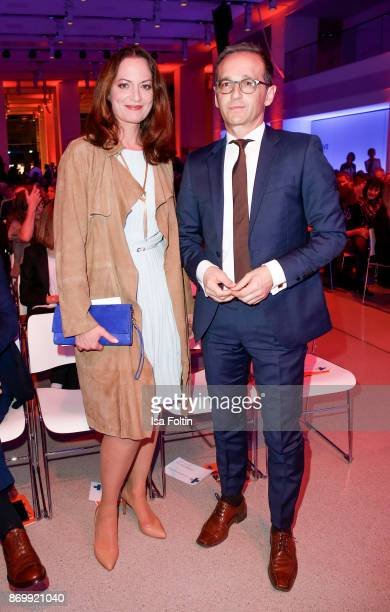 German actress Natalia Woerner and her partner German politician Heiko Maas attend the 19th Media Award by Kindernothilfe on November 3 2017 in...