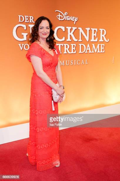 German actress Natalia Woerner attends the premiere of the musical 'Der Gloeckner von Notre Dame' on April 9 2017 in Berlin Germany