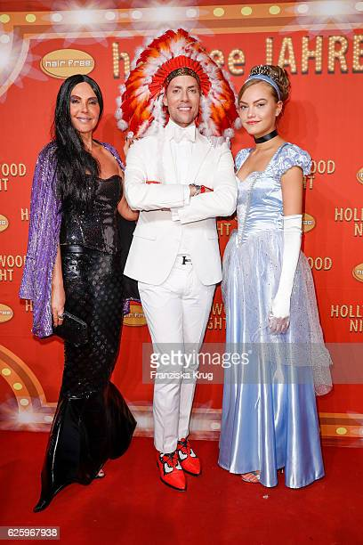 German actress Natascha Ochsenknecht with her daughter Cheyenne Savannah Ochsenknecht and Hairfree founder Jens Hilbert attend the Hollywood...