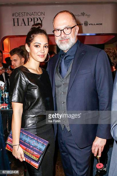 German actress Nilam Farooq and Kay Niehaus Business Director Value Retail attend the New Faces Award Fashion 2016 the New Faces Award Fashion 2016...