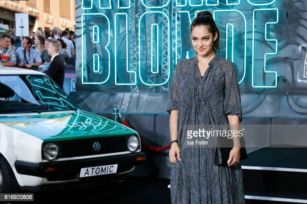 German actress Nilam Farooq attends the 'Atomic Blonde' World Premiere at Stage Theater on July 17 2017 in Berlin Germany