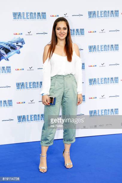 German actress Nilam Farooq during the 'Valerian Die Stadt der Tausend Planeten' premiere at CineStar on July 19 2017 in Berlin Germany