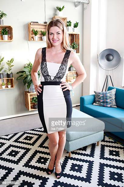 German actress Nina Bott attends the Amorelie Wonderland dinner party at their new headquarter on August 19 2016 in Berlin Germany