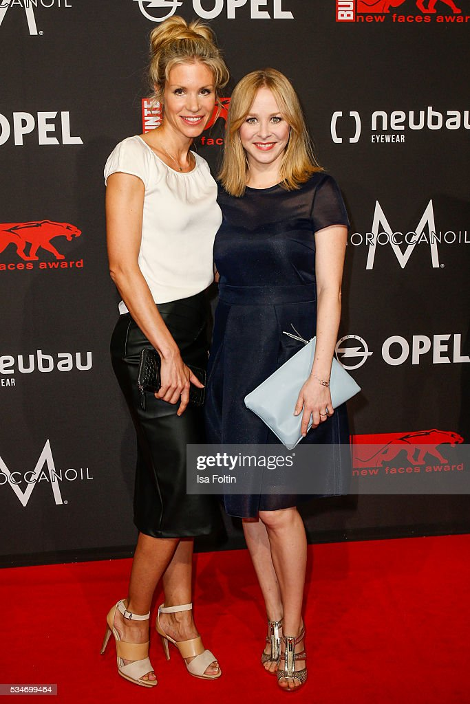German actress Nina Friederike Gnaedig and german actress Jasmin Schwiers attend the New Faces Award Film 2016 at ewerk on May 26, 2016 in Berlin, Germany.