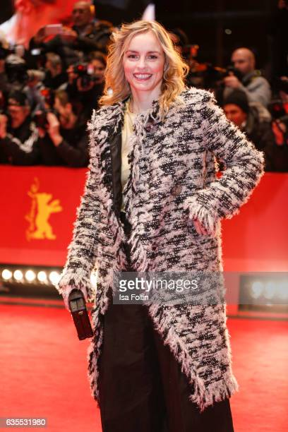 German actress Nina Hoss attends the 'Return to Montauk' premiere during the 67th Berlinale International Film Festival Berlin at Berlinale Palace on...