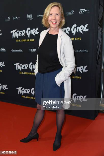 German actress Petra Zieser attends the premiere of the film 'Tiger Girl' at Zoo Palast on March 20 2017 in Berlin Germany