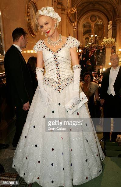 German actress Renate Hirsch attends the 50th Vienna Opera Ball at the Vienna State Opera February 23 2006 in Vienna Austria