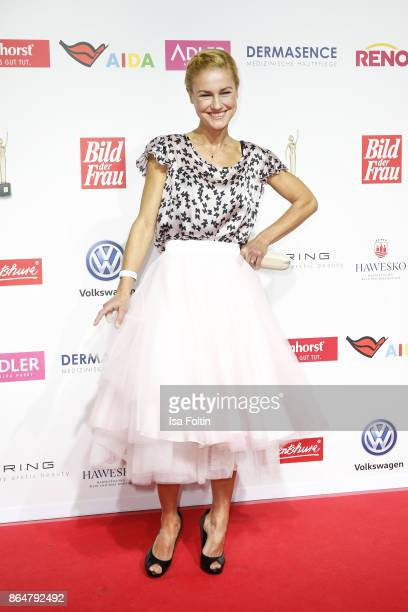 German actress Rhea HarderVennewald attends the 'Goldene Bild der Frau' award at Hamburg Cruise Center on October 21 2017 in Hamburg Germany