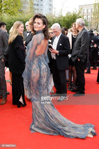 German actress Ruby O Fee during the Lola German Film Award red carpet arrivals at Messe Berlin on April 28 2017 in Berlin Germany