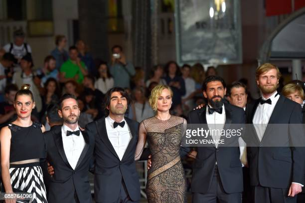 German actress Samia Chancrin German actor Denis Moschitto German director Fatih Akin German actress Diane Kruger German actor Numan Acar and German...