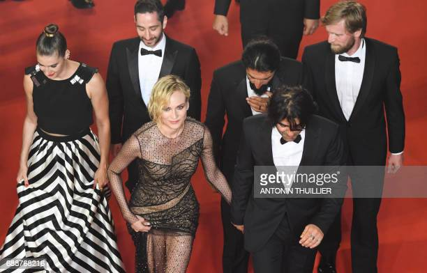 German actress Samia Chancrin German actor Denis Moschitto German actress Diane Kruger German actor Numan Acar German director Fatih Akin and German...