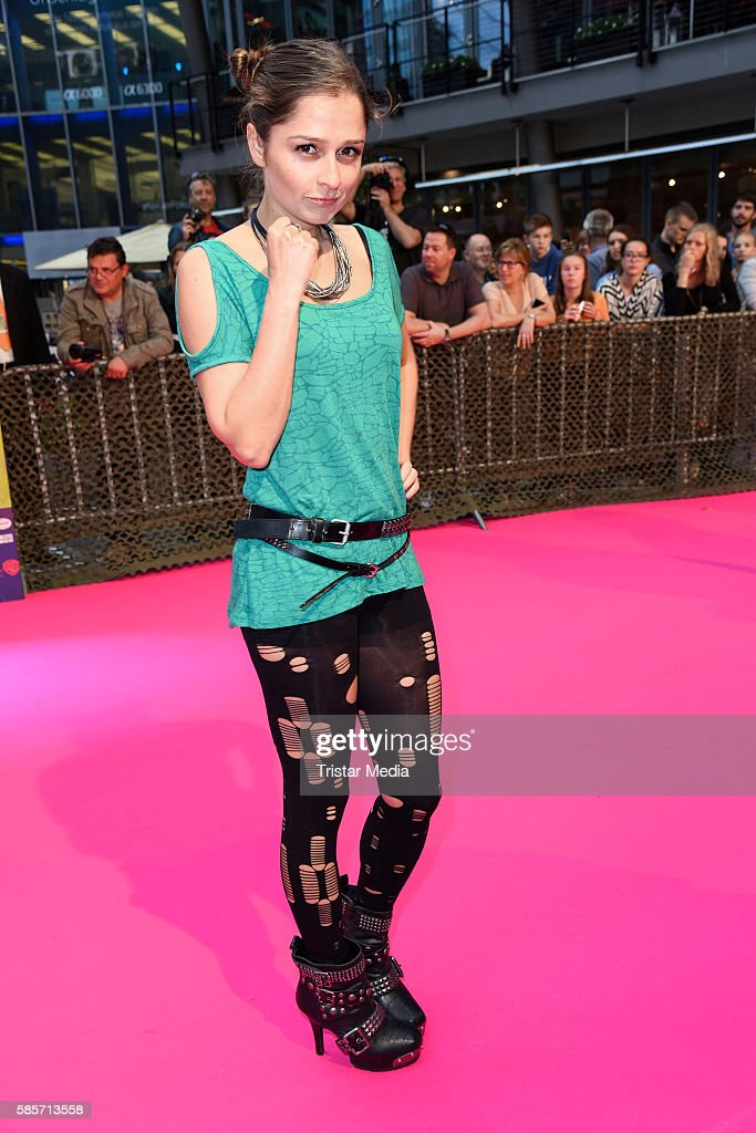 German actress Sarah Alles attends the Suicide Squad Live Event at CineStar on August 3 2016 in Berlin Germany