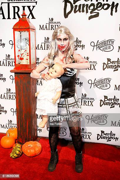 German actress Sarah Tkotsch attends the Halloween party by Natascha Ochsenknecht at Berlin Dungeon on October 27 2016 in Berlin Germany