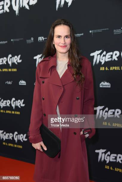 German actress Saralisa Volm attends the premiere of the film 'Tiger Girl' at Zoo Palast on March 20 2017 in Berlin Germany