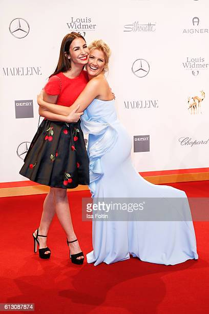 German actress Sila Sahin and german moderator Jennifer Knaeble attend the Tribute To Bambi at Station on October 6 2016 in Berlin Germany