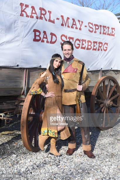 German actress Sila Sahin and german singer Alexander Klaws attend the 'Old Surehand' photo call for the Karl May Festival on February 24 2017 in Bad...