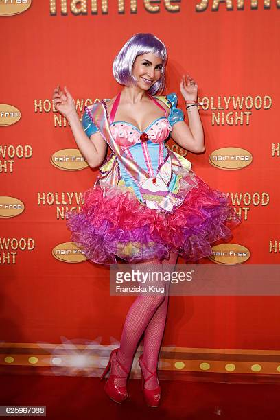 German actress Sila Sahin attends the Hollywood Superhero Fairytale Night hosted by Jens Hilbert on November 26 2016 in Darmstadt Germany