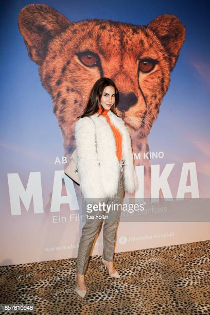 German actress Sila Sahin attends the 'Maleika' Film Premiere at Zoo Palast on October 4 2017 in Berlin Germany
