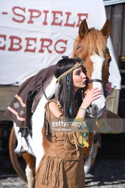 German actress Sila Sahin attends the 'Old Surehand' photo call for the Karl May Festival on February 24 2017 in Bad Segeberg Germany The Karl May...