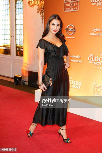 German actress Sila Sahin attends the premiere of the musical 'Der Gloeckner von Notre Dame' on April 9 2017 in Berlin Germany