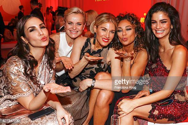 German actress Sila Sahin Barbara Sturm model and fashion blogger Hofit Golan Lilly Becker and model Shermine Shahrivar attend the Mon Cheri Barbara...