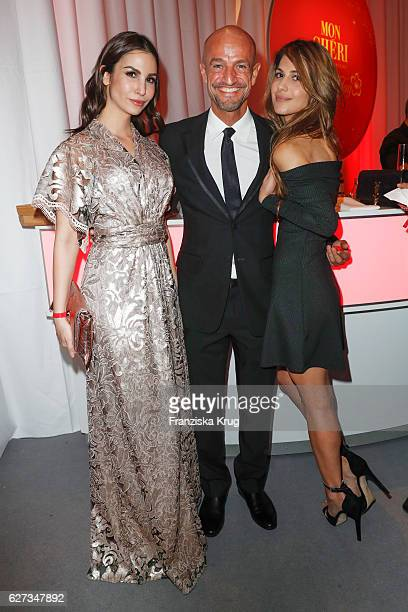 German actress Sila Sahin with Peyman Amin and guest during the Mon Cheri Barbara Tag at Postpalast on December 2 2016 in Munich Germany