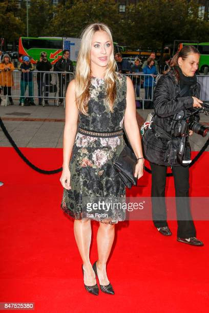 German actress Sina Tkotsch attends the UFA 100th anniversary celebration at Palais am Funkturm on September 15 2017 in Berlin Germany