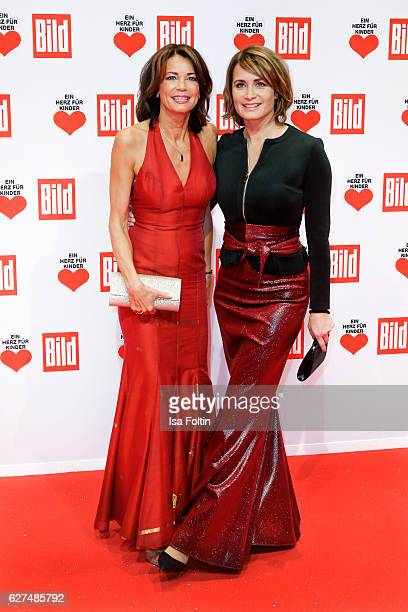 German actress sisters Gerit Kling and Anja Kling attend the Ein Herz Fuer Kinder gala on December 3 2016 in Berlin Germany