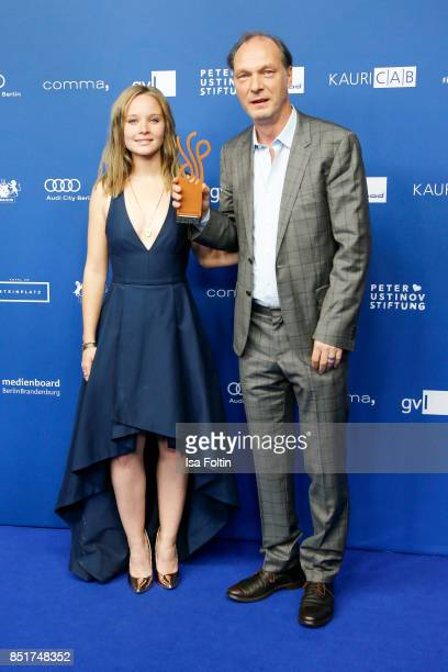 German actress Sonja Gerhardt and German actor and award winner Martin Brambach during the 6th German Actor Award Ceremony at Zoo Palast on September...