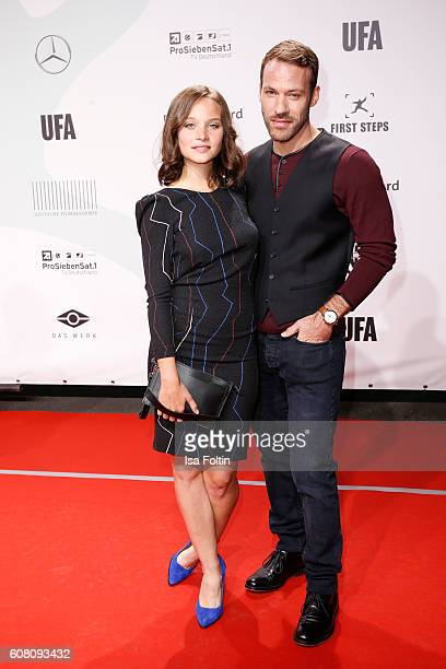 German actress Sonja Gerhardt and german actor Sonja Gerhardt Falk Hentschel Falk Hentschel attend the First Steps Awards 2016 at Stage Theater on...