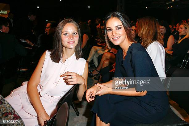 German actress Sonja Gerhardt and german actress Janina Uhse attend the Tribute To Bambi at Station on October 6 2016 in Berlin Germany