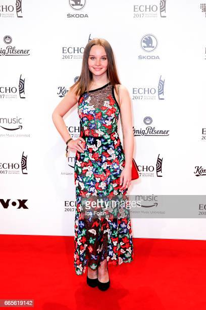 German actress Sonja Gerhardt during the Echo award red carpet on April 6 2017 in Berlin Germany