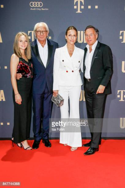 German actress Sonja Gerhardt Wolf Bauer producer and CEO UFA German actress Claudia Michelsen and Nico Hofmann CEO UFA attend the UFA 100th...