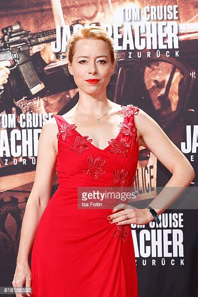 German actress Sonja Kerskes attends the 'Jack Reacher Never Go Back' Berlin Premiere at CineStar Sony Center Potsdamer Platz on October 21 2016 in...