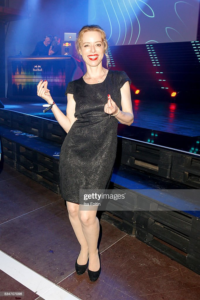 German actress Sonja Kerskes dances during the New Faces Award Film 2016 After Show Party at ewerk on May 26, 2016 in Berlin, Germany.