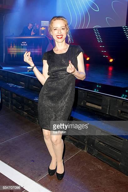 German actress Sonja Kerskes dances during the New Faces Award Film 2016 After Show Party at ewerk on May 26 2016 in Berlin Germany
