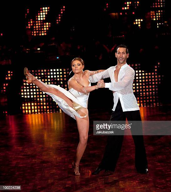 German actress Sophia Thomalla and professional dancer Massimo Sinato dance during the semi final of the 'Let's Dance' TV show at Studios Adlershof...