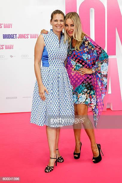 German actress Sophie Schuett and german actress Xenia Seeberg attend the 'Bridget Jones Baby' German Premiere at Zoo Palast on September 7 2016 in...