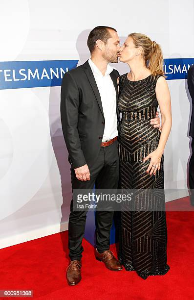 German actress Sophie Schuett and her husband Felix Seitz attend the Bertelsmann Summer Party at Bertelsmann Repraesentanz on September 8 2016 in...