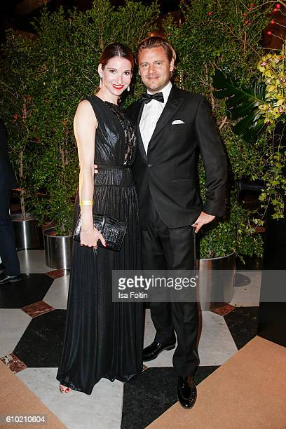 German actress Sophie Wepper and her husband David Meister attend the7th VITA Charity Gala in Wiesbaden on September 24 2016 in Wiesbaden Germany