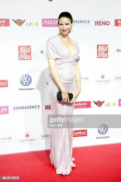 German actress Sophie Wepper attends the 'Goldene Bild der Frau' award at Hamburg Cruise Center on October 21 2017 in Hamburg Germany