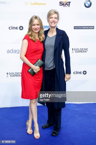 German actress Stefanie Stappenbeck and German actress Ina Weisse attend the summer party 2017 of the German Producers Alliance on July 12 2017 in...
