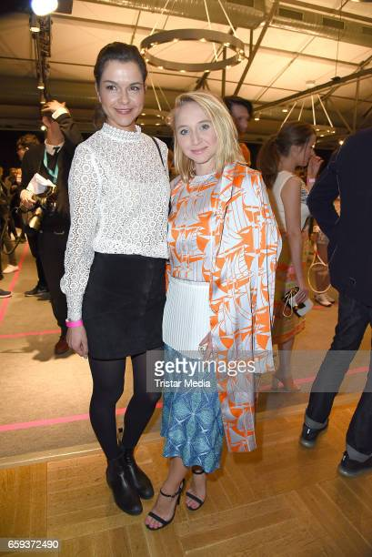 German actress Susan Hoecke and german actress Anna Maria Muehe attend the BIDI BADU by Kilian Kerner Presentation at Ellington Hotel on March 28...