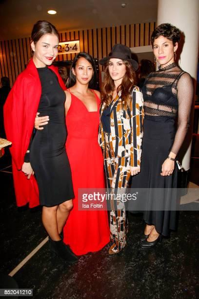 German actress Susan Hoecke German actress MinhKhai PhanThi German actress Natalia Avelon and German actress Jasmin Gerat during the 6th German Actor...