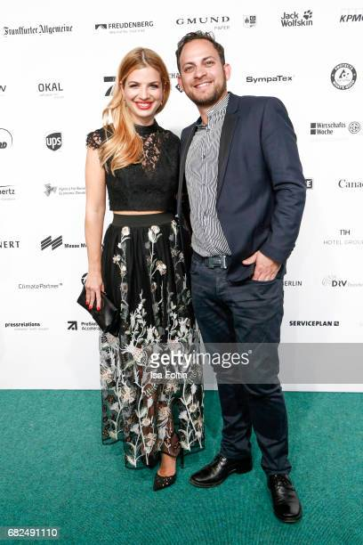German actress Susan Sideropoulos and her husband Jakob Shtizberg attend the GreenTec Awards at ewerk on May 12 2017 in Berlin Germany