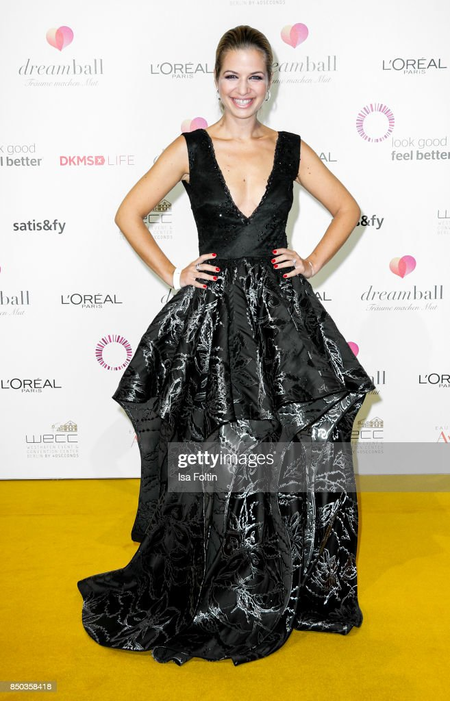German actress Susan Sideropoulos attends the Dreamball 2017 at Westhafen Event & Convention Center on September 20, 2017 in Berlin, Germany.
